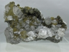 Calcite & Chalcopyrite, Linwood Mine, Buffalo, Iowa, USA (Cab)