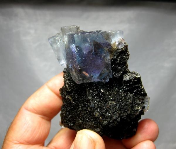 Fluorite on Sphalerite, Denton Mine, Hardin County, Illinois