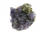 Fluorite, Chalcopyrite & Sphalerite on Dolomite,  Cave-in-Rock District, Hardin County, Illinois