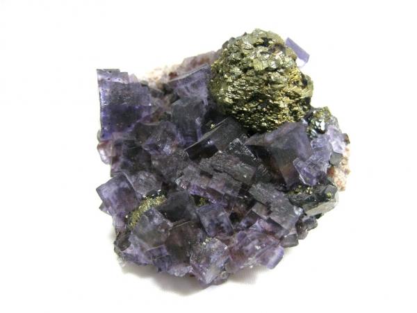 Fluorite, Chalcopyrite & Sphalerite on Dolomite,  Cave-in-Rock District, Hardin County, Illinois