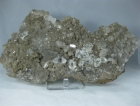 Quartz w/ Calcite on Matrix, DT, Petroleum Inclusions, (Cab)
