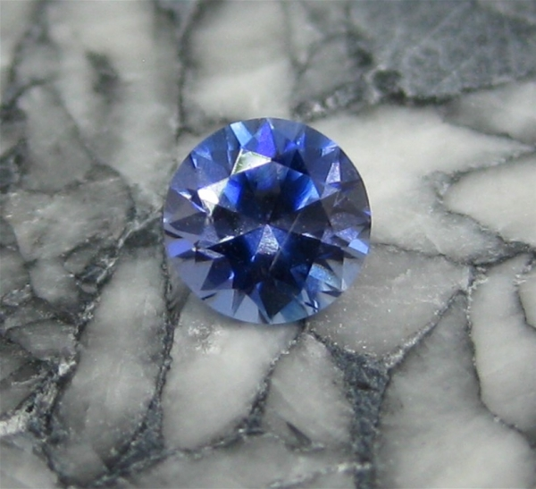 Faceted Benitoite, .31 carats, VVS