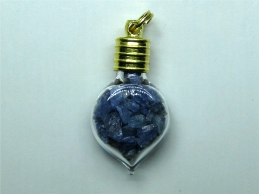 Benitoite Crystal Charm / Pendant, Spade