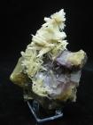 Fluorite w/ Calcite, Cave-in-Rock, (Cab), Hardin County, Illinois