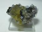 Fluorite w/ Calcite and Sphalerite, (Cab), Cave-in-Rock, Illinois
