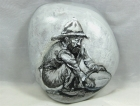"""Painted Rock, """"Vintage Panning for Gold"""""""
