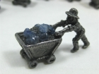 Pewter Miner Ore Carts with Benitoite