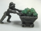 Pewter Miner Ore Carts with Emerald