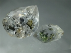 2 Double Terminated Quartz Crystal with Petroleum Inclusions, 14.94 ctw