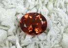 Oregon Sunstone, 6.33 cts., Reddish Orange, Oval Cut